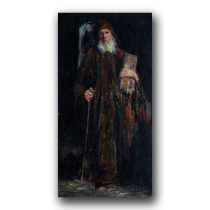 Original painting entitled Abbot by Moldovan artist Gheorghe Lisiţa