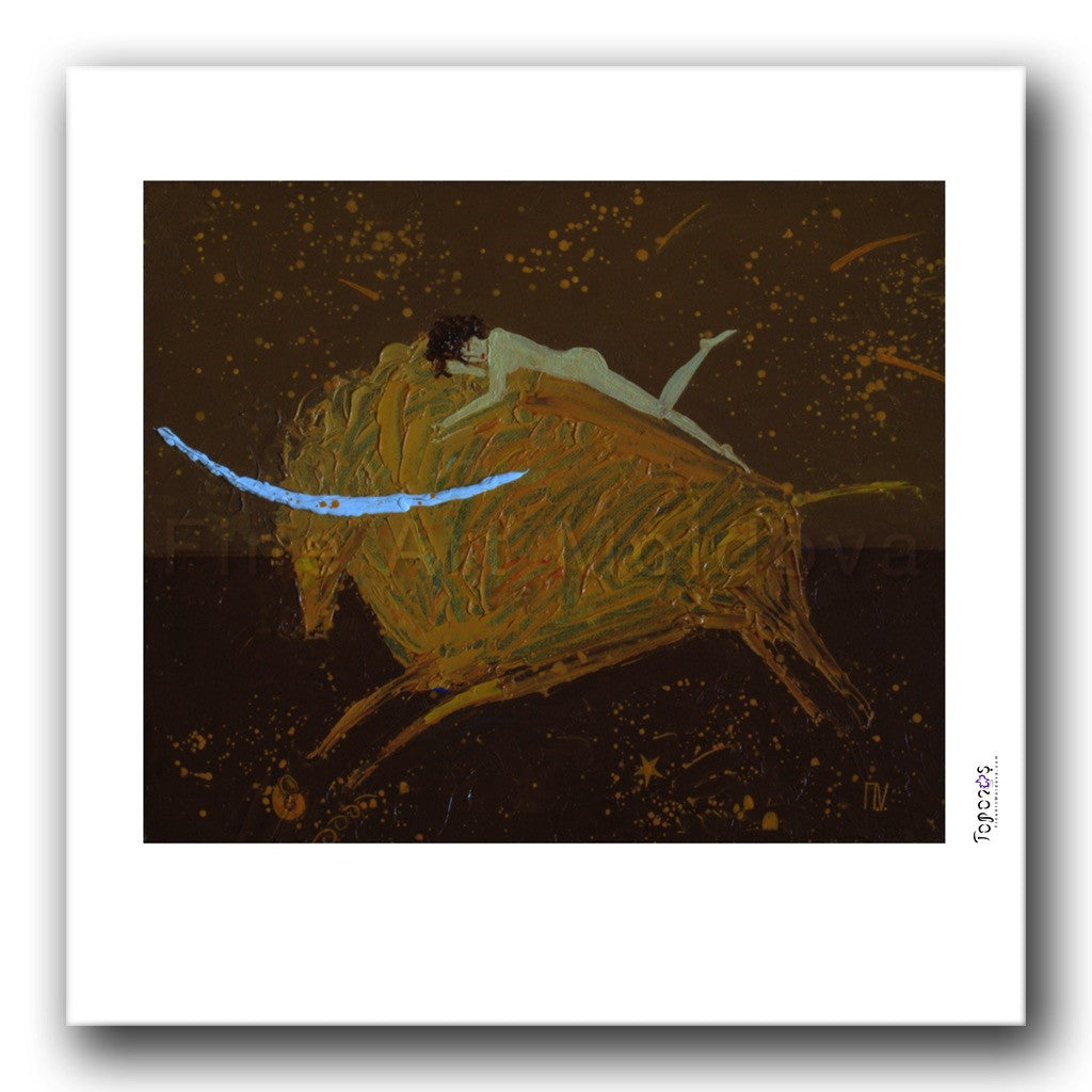 Fine art print titled The Rape of Europa by Moldovan artist Vadim Palamarciuc