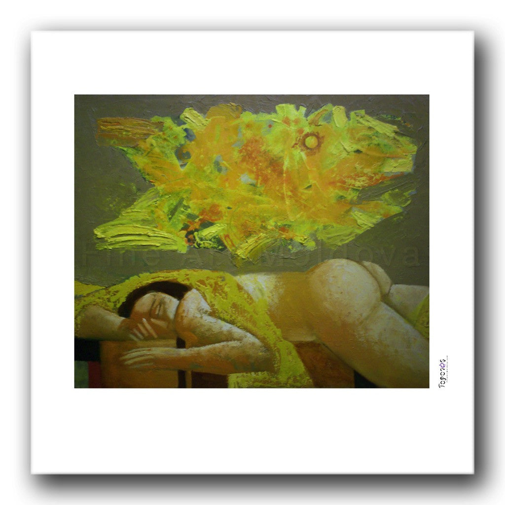 Fine art print titled Dream by Moldovan artist Vadim Palamarciuc