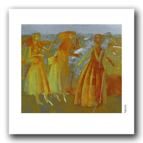 Fine art print titled Music Lesson by Moldovan artist Vadim Palamarciuc