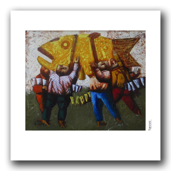 Fine art print titled Rich Catch by Moldovan artist Vadim Palamarciuc