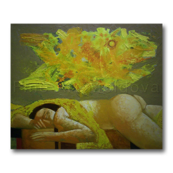 Original painting titled Dream by Moldovan artist Vadim Palamarciuc