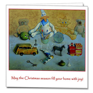 Cover of the Christmas Card featuring Grenade Șonțu's painting The Childhood Story
