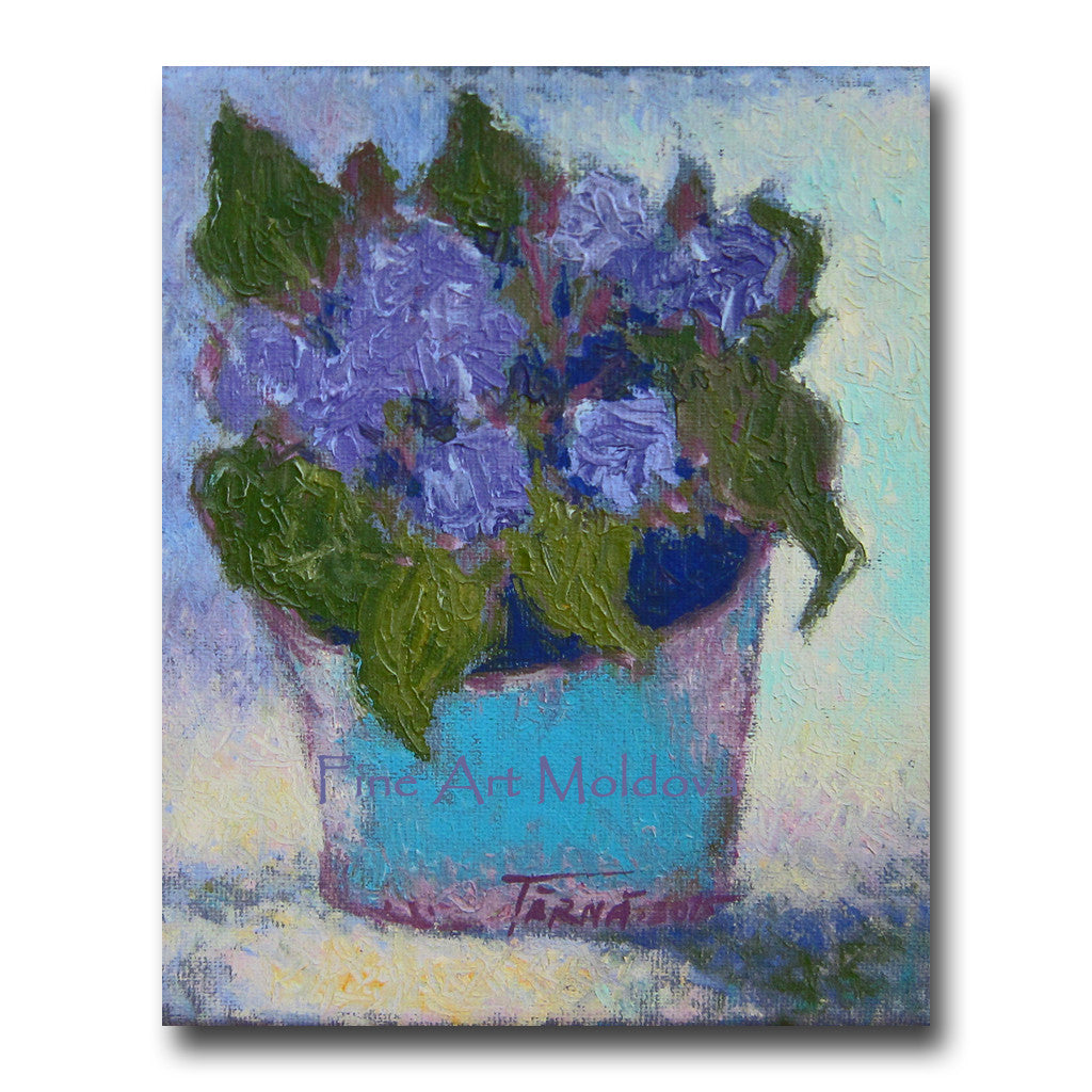 Original painting Flowers by Gheorghe Tarna