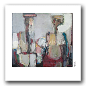 Fine art print titled Exchange of Silence by Moldovan artist Tudor Zbârnea