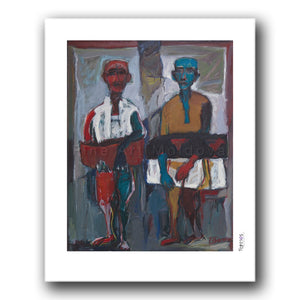 Fine art print titled Father and Son by Moldovan artist Tudor Zbârnea