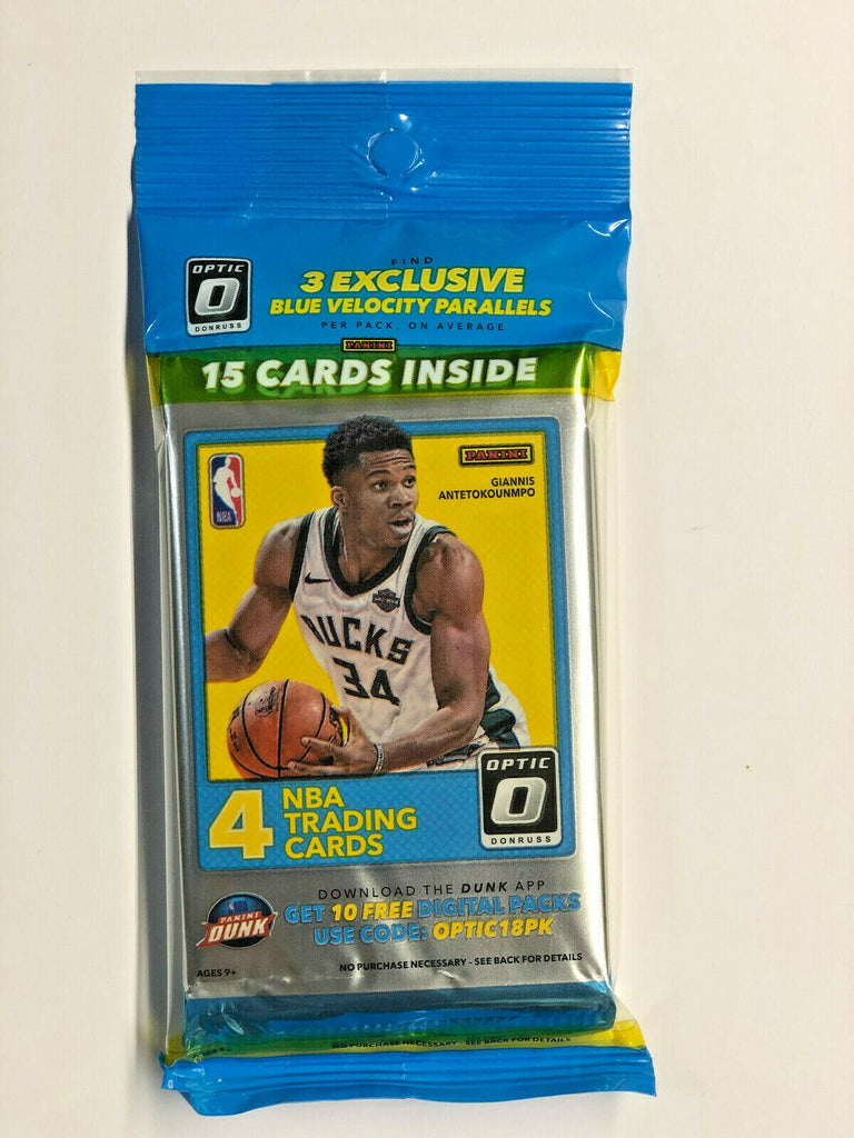 PANINI BASKETBALL CELLO BOX 2017-18 PANINI DONRUSS OPTIC (SINGLE PACK)