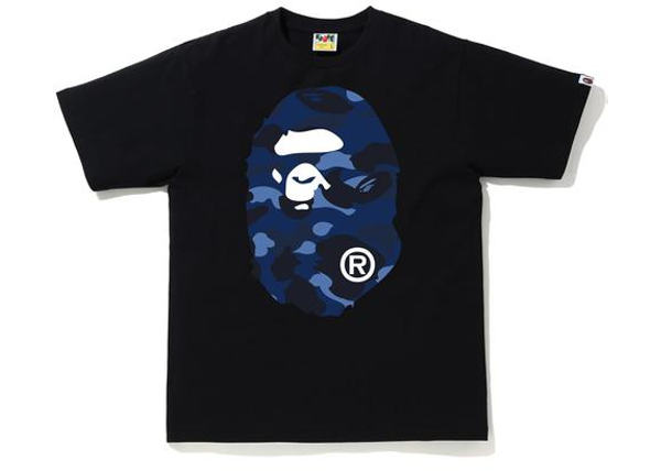 BAPE Color Camo Big Ape Head T-Shirt (SS20) Black/Navy