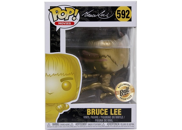 Funko Pop! Movies Bruce Lee Game Of Death Flying Man (Gold) Bait Exclusive Figure #592