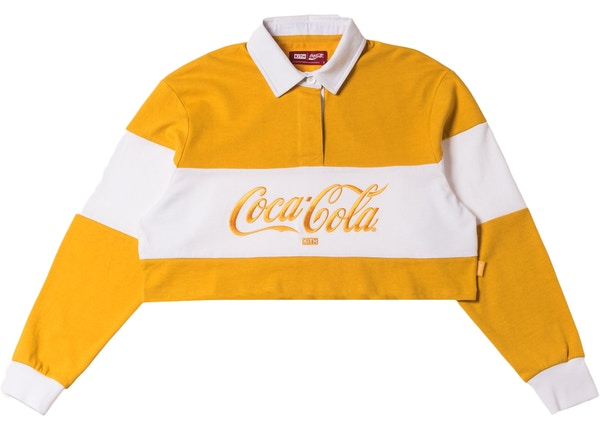 Kith Women x Coca-Cola Cropped L/S Rugby Yellow