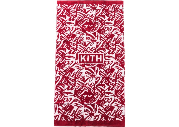 Kith x Coca-Cola Cubed Beach Towel Red
