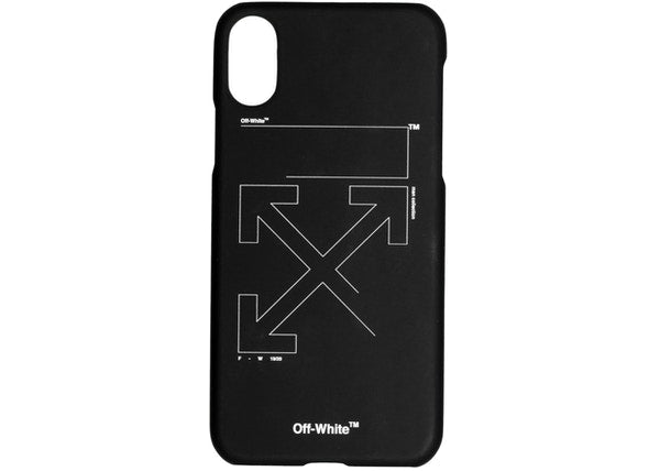 OFF-WHITE Unfinished Arrows iPhone XS Max Case Black/White