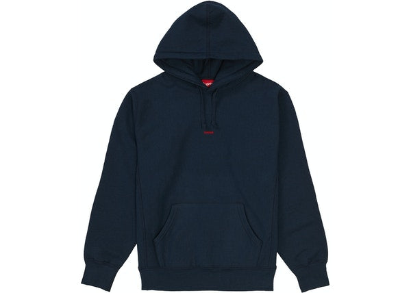 Supreme Micro Logo Hooded Sweatshirt Navy