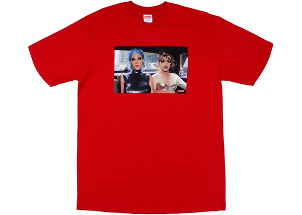 Supreme Nan Goldin Misty and Jimmy Paulette Tee Red