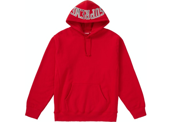 Supreme Sequin Arc Hooded Sweatshirt Red