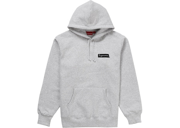 Supreme Stop Crying Hooded Sweatshirt Ash Grey