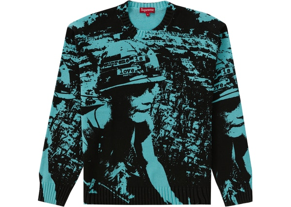 Supreme Supreme is Love Sweater Bright Teal