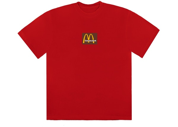 Travis Scott x McDonald's Sesame Inv III T-Shirt Red