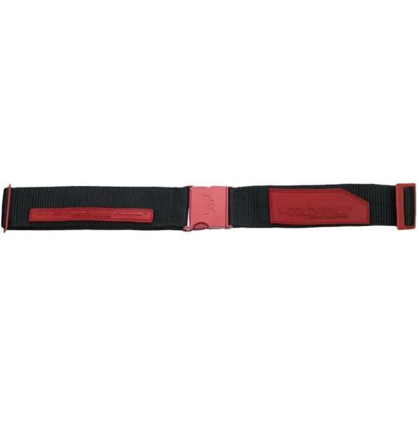 A-Cold-Wall Industrial Belt with Patches Red
