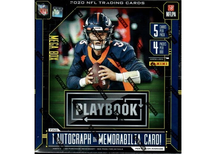 Panini 2020 Playbook Football Mega Box (Orange Parallels)