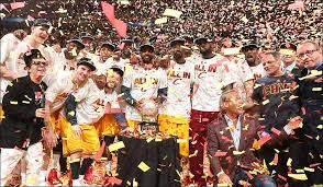 Picture of the 2016 NBA Champions the Cleveland Cavaliers