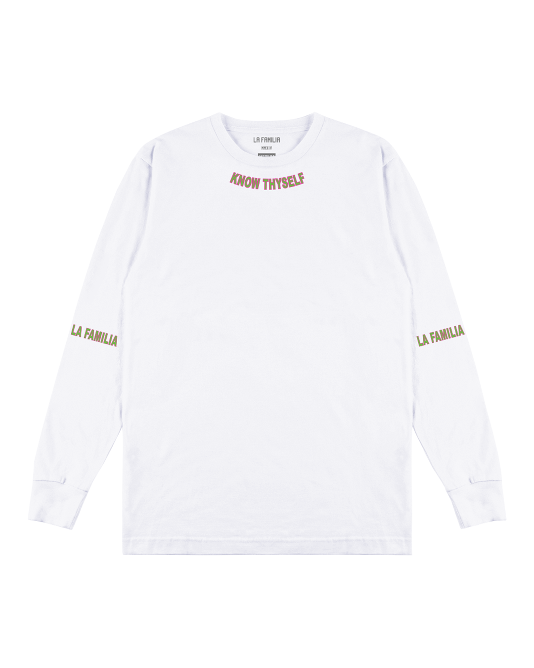GREEK MOTTO LS TEE - LA FAMILIA WORLDWIDE