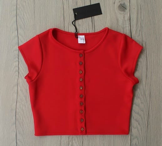 Red Urbane Crop Top