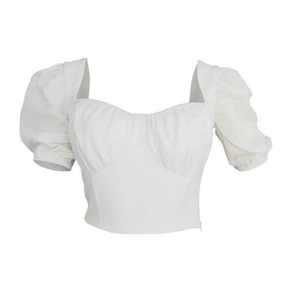 Club Senorita Crop Top - White