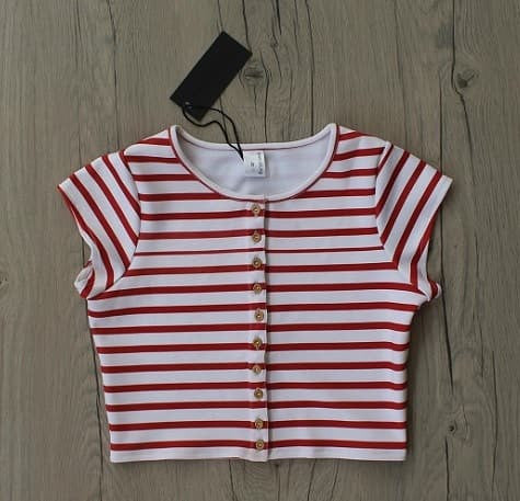 Red Stripes Urbane Crop Top
