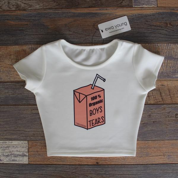 Boys Tears Crop Top