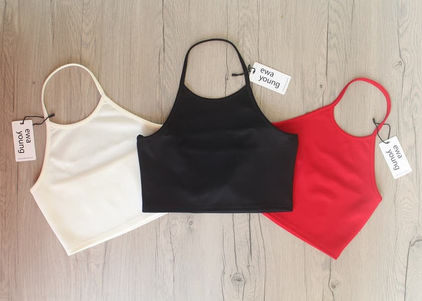 Combo of 3 Halter Crop Tops