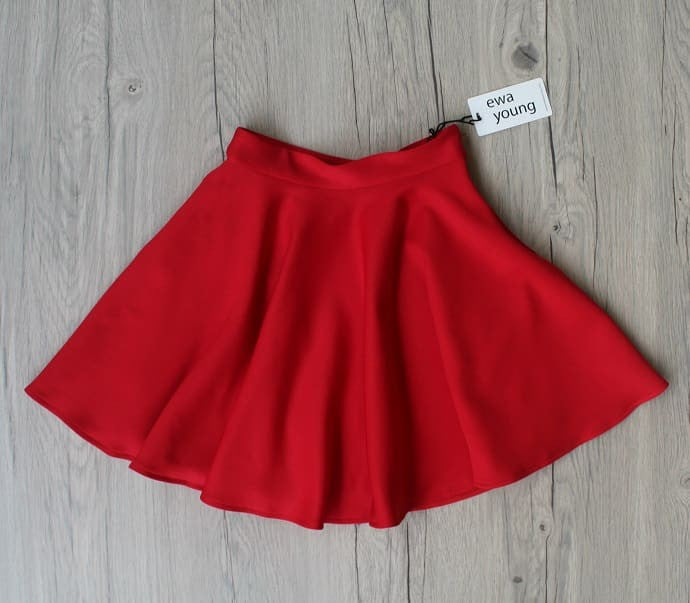 Red Flair Skirt