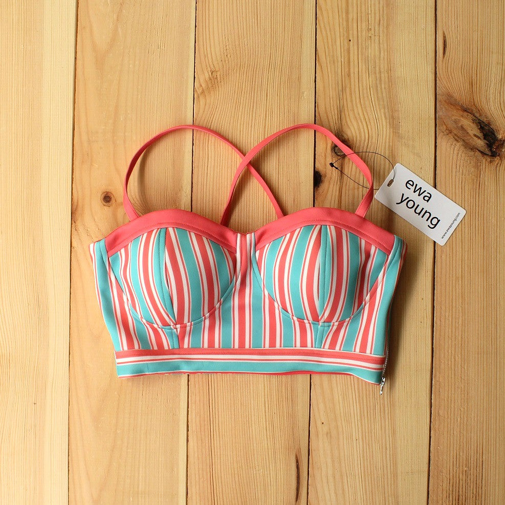 Candy Floss Senorita Crop Top (Padded)