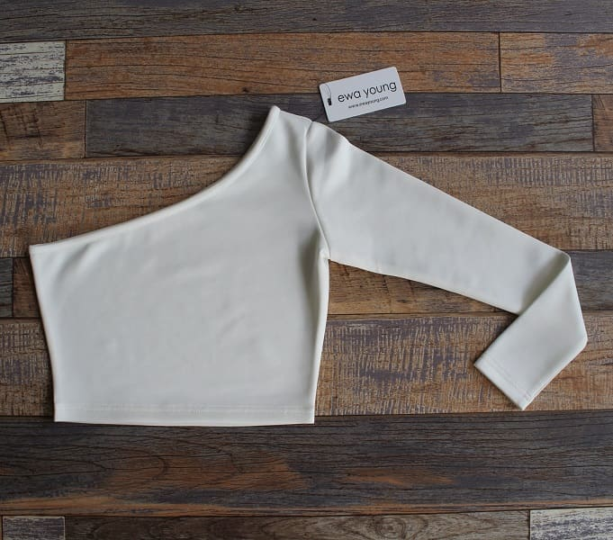 White Bella Crop Top (Off Shoulder)
