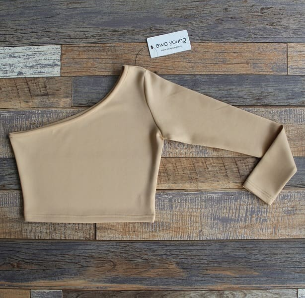 Beige Bella Crop Top (Off Shoulder)