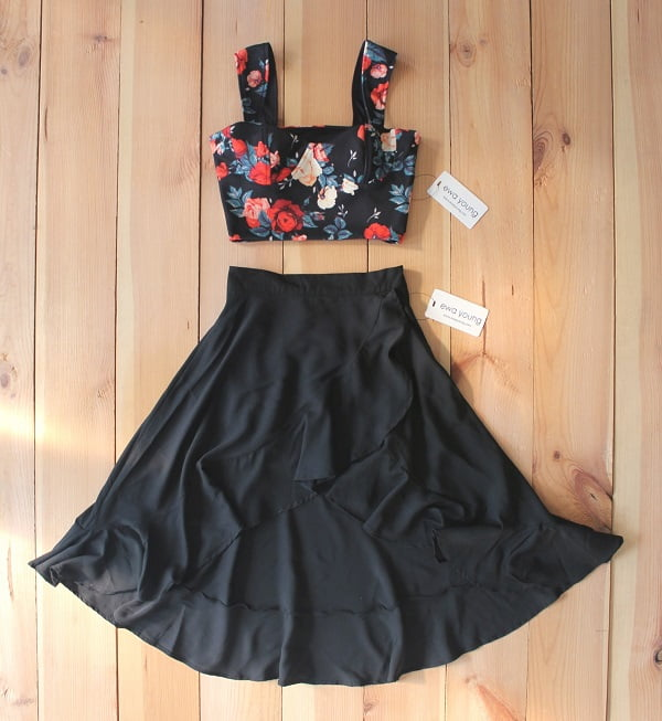 Black Floral Buena Combo