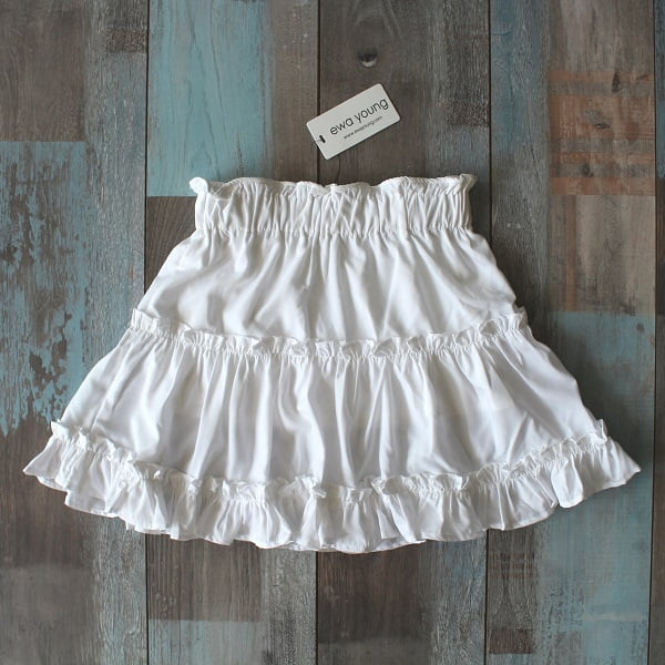 Brooklyn Skater Skirt - Pearl