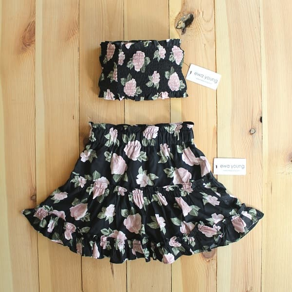 Beach Baby Combo - Black Floral