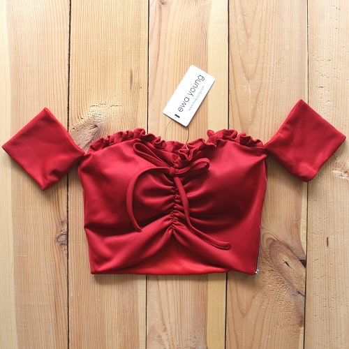 Bonita Crop Top (Padded) - Red