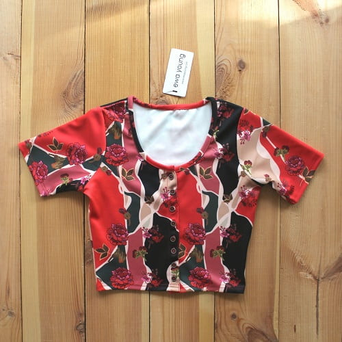 Floral Trace Urbane Crop Top