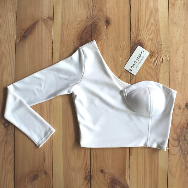 Boss Girl Crop Top - White