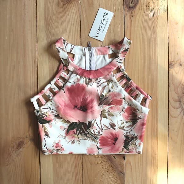 Combo of 3 Floral Crop Tops