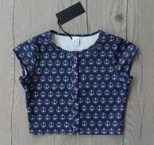 Blue Anchor Urbane Crop Top