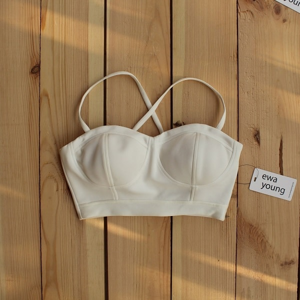 White Senorita Crop Top (Padded)