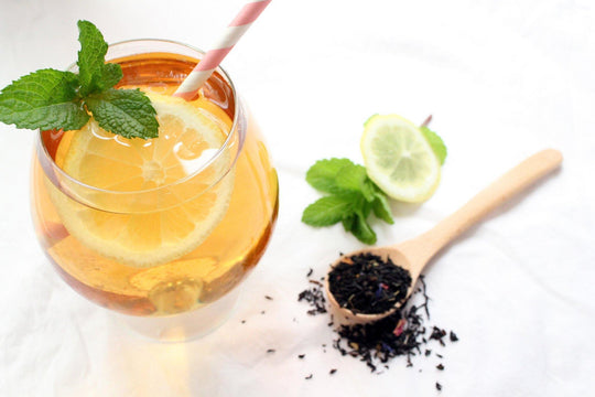 Simple Earl Grey Iced Tea with Mint and Lemon (3 Ingredients)