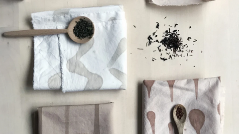 recycle used tea leaves for dyeing clothes   Life of Cha