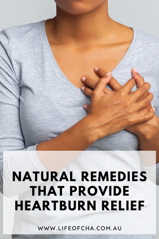 a woman wanting to relieve heartburn