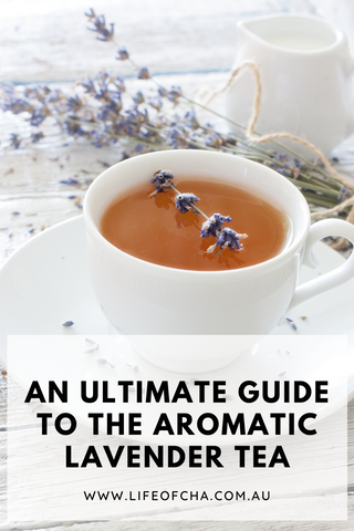 an enticing cup of aromatic lavender tea