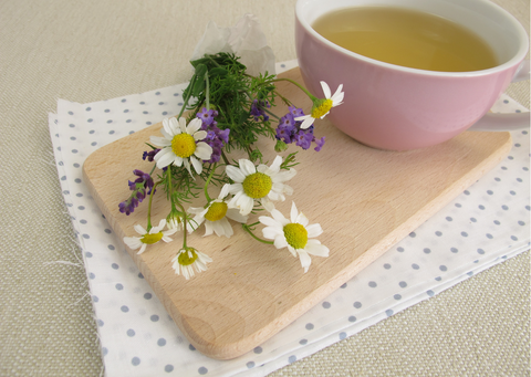 a relaxing lavender and chamomile tea