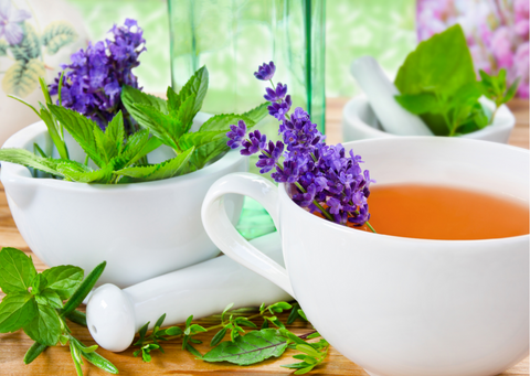 lavender tea with the refreshing addition of mint